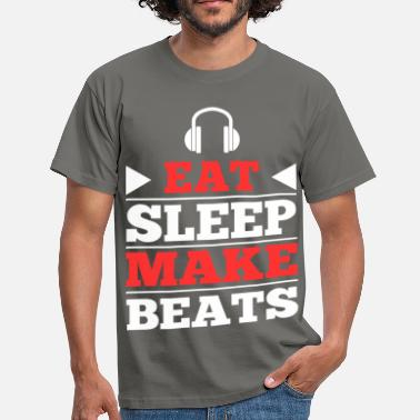 Beats Eat Sleep Make Beats - Männer T-Shirt