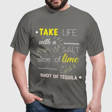 Take life with a grain of - Men's T-Shirt