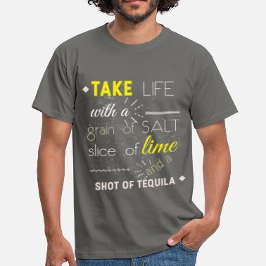 Lime Slice Take life with a grain of - Men's T-Shirt