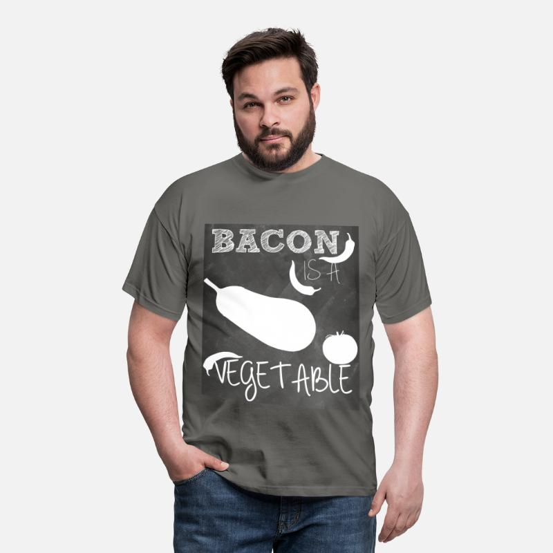 Bacon T-shirt T-Shirts - Bacon is a vegetable - Men's T-Shirt graphite grey