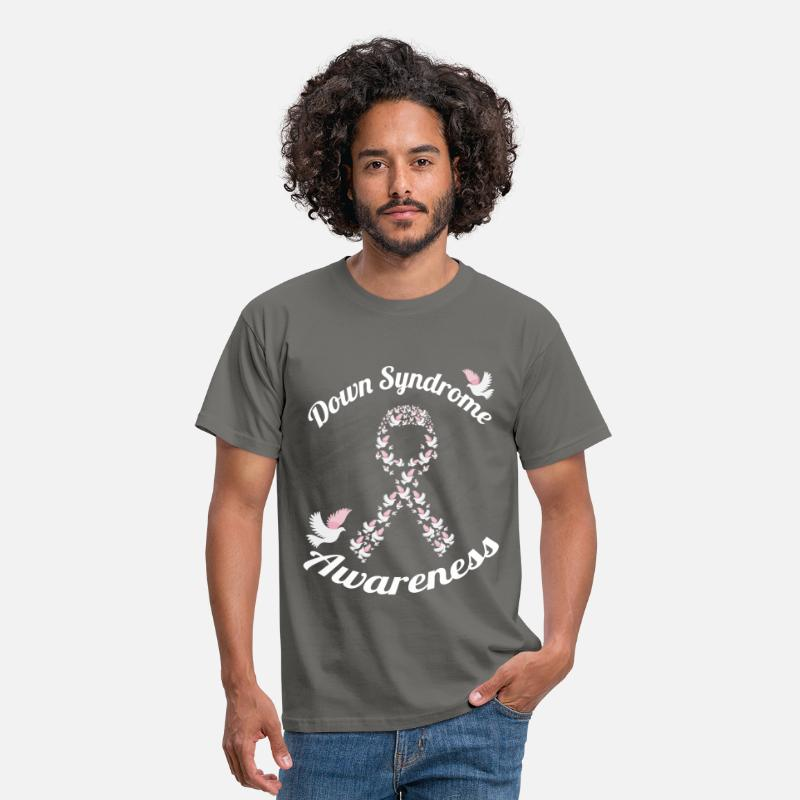 Down T-Shirts - Down syndrome awareness - Men's T-Shirt graphite grey