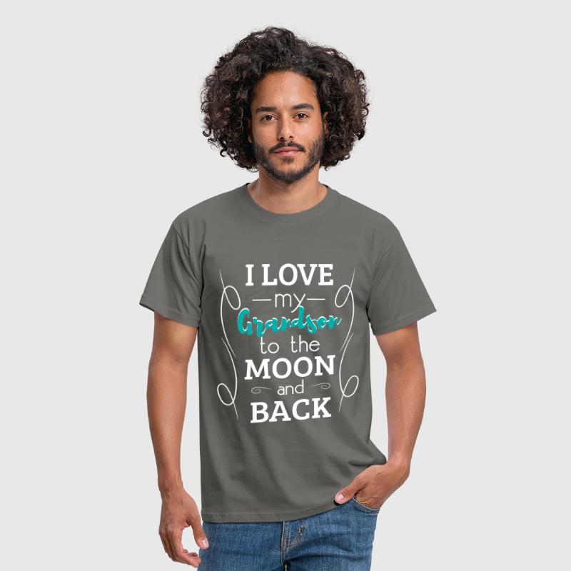 I love my grandson to the moon and back - Men's T-Shirt