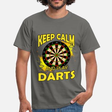 Darts Keep calm and play darts - Men's T-Shirt