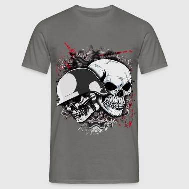 Skull with helmet - Men's T-Shirt