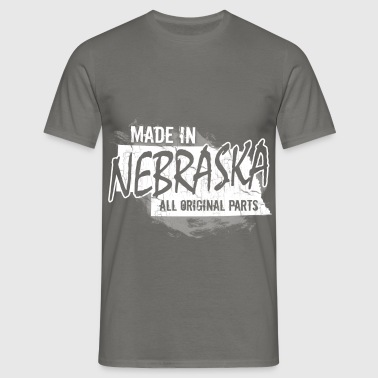 Made in Nebraska all original parts  - Men's T-Shirt