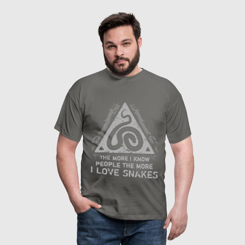 The more I know people, the more I love snakes - Men's T-Shirt