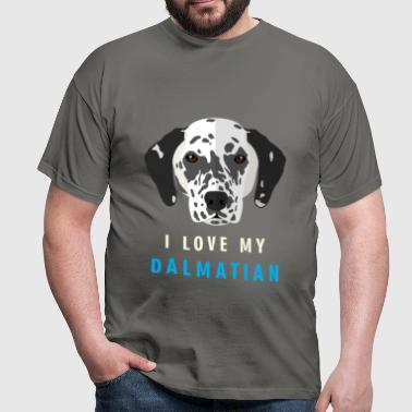 I love my Dalmatian - Men's T-Shirt