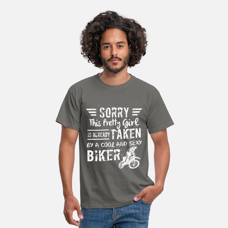 Taken T-Shirts - Sorry this pretty girl is already taken by a cool  - Men's T-Shirt graphite grey