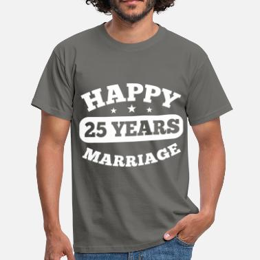 25 25 Years Happy Marriage - Men's T-Shirt