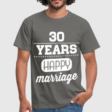 30 Years Happy Marriage - Männer T-Shirt
