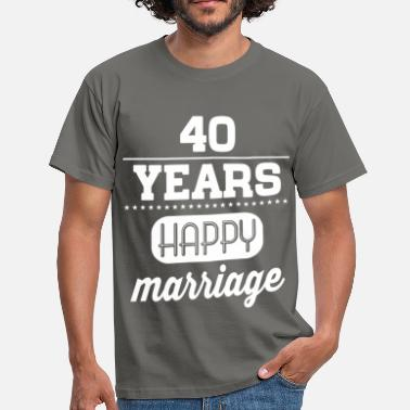 40 Hochzeitstag 40 Years Happy Marriage - Männer T-Shirt