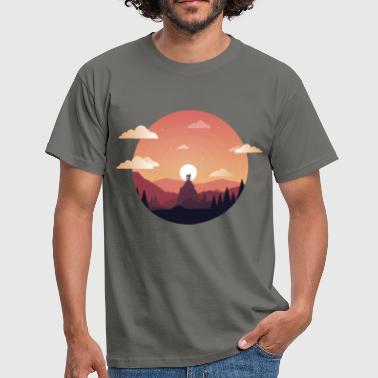 Sunset Comic - T-shirt Homme