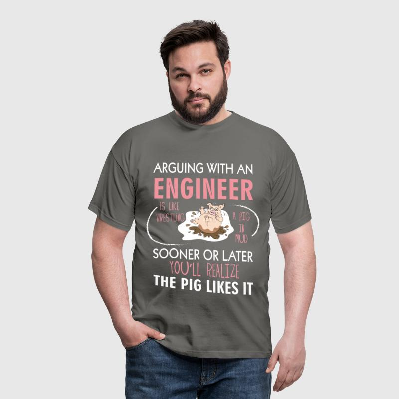 Engineer - Arguing with an engineer is like  - Men's T-Shirt