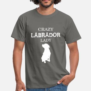 Labrador Apparel Labrador - Crazy Labrador Lady  - Men's T-Shirt