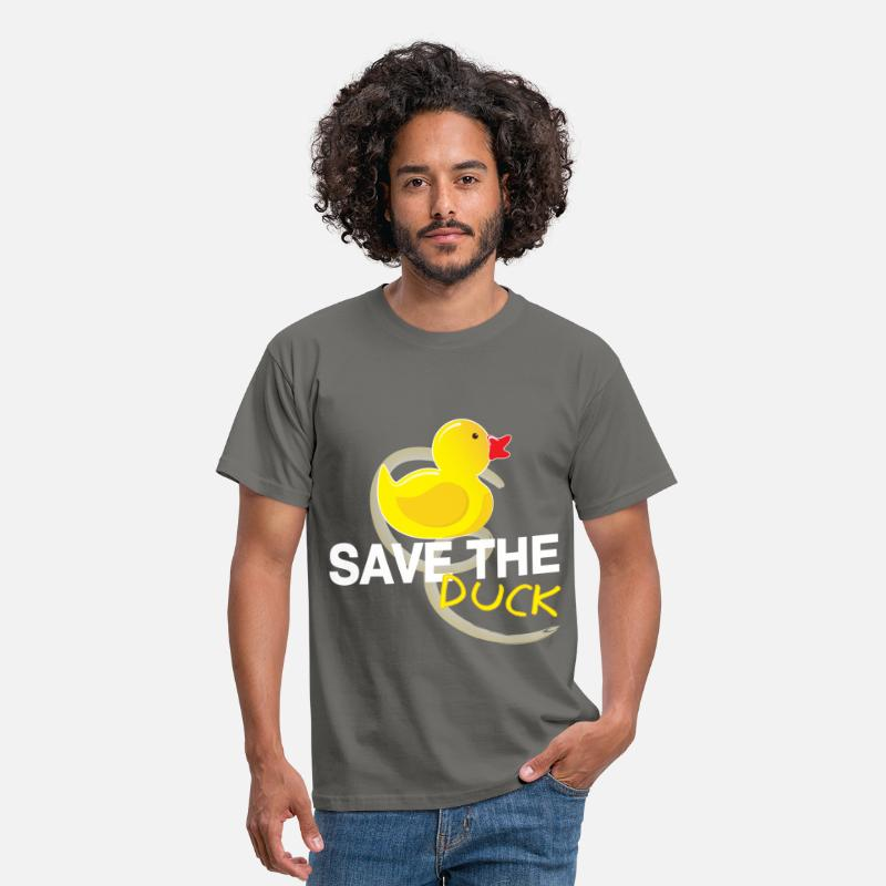 Duck T-shirt T-Shirts - Duck - Save the duck - Men's T-Shirt graphite grey