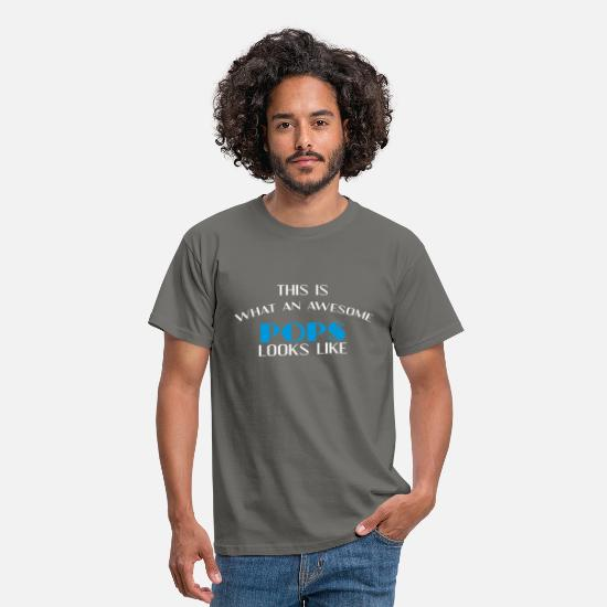 Pops T-shirt T-Shirts - Pops - This is what an awesome Pops looks like - Men's T-Shirt graphite grey