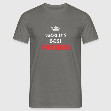 Father - World's best Father - Men's T-Shirt