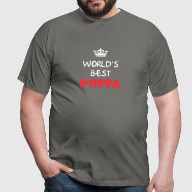 Poppa - World's best Poppa - Men's T-Shirt