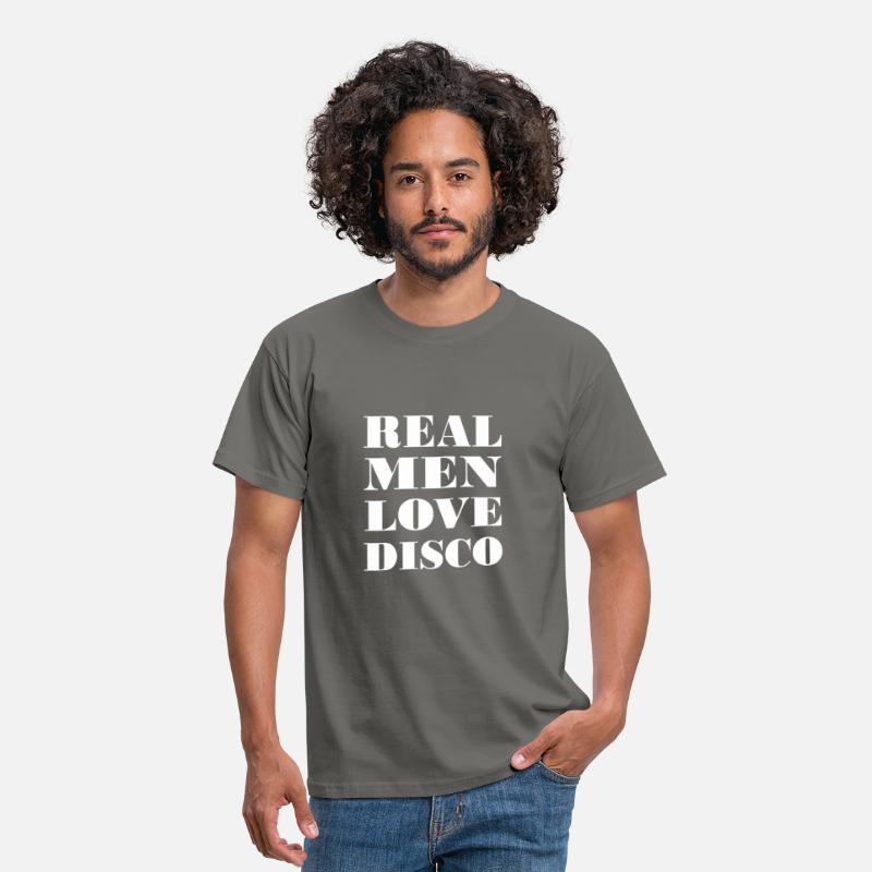 Disco T-Shirts - Disco - Real Men love Disco - Men's T-Shirt graphite grey