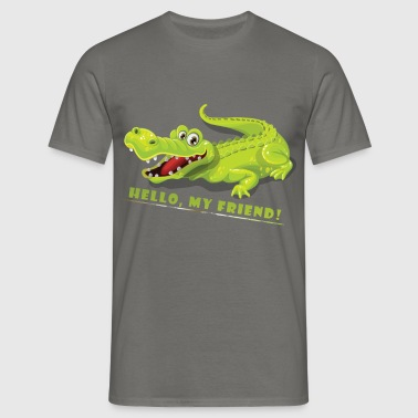 Crocodile - Hello, My Friend! - Men's T-Shirt