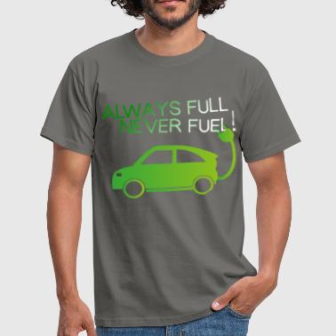 Electric Car - Always full, never fuel - Men's T-Shirt