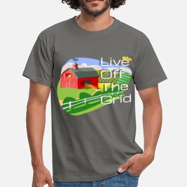 Off Grid Grid - Live Off the Grid - Men's T-Shirt