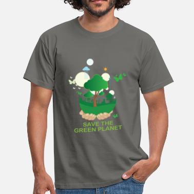 Stars Planets Green planet - Save the green planet - Men's T-Shirt