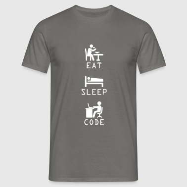 Computer Programming - Eat, Sleep, Code - Men's T-Shirt