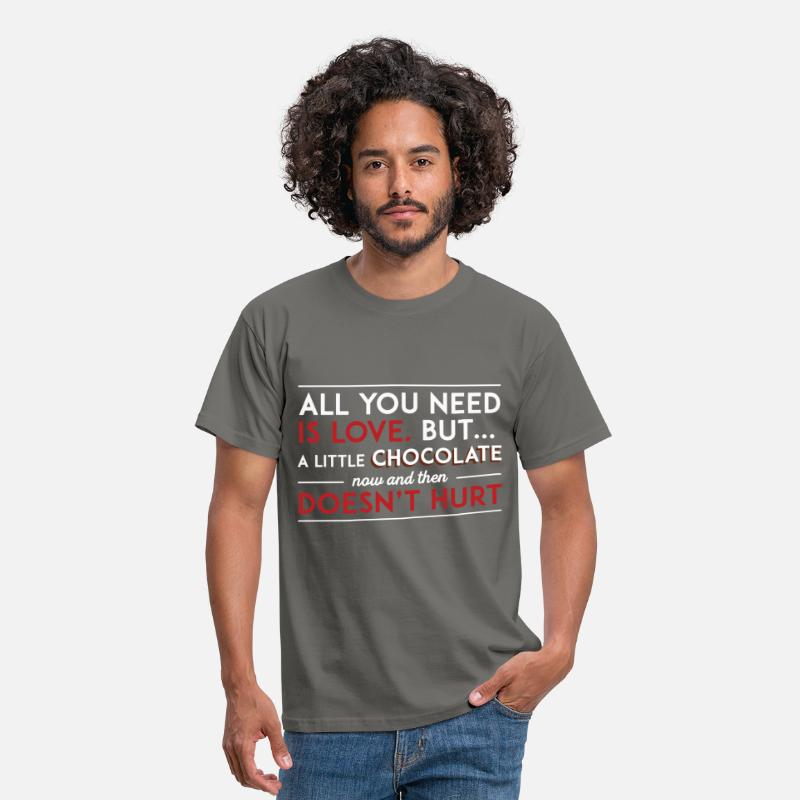 Valentine's Day T-Shirts - St. Valentine - All you need is love, but a little - Men's T-Shirt graphite grey