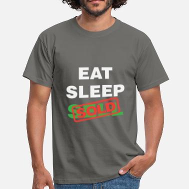 Estate Agent Real estate agent - Eat Sleep Sell Sold - Men's T-Shirt