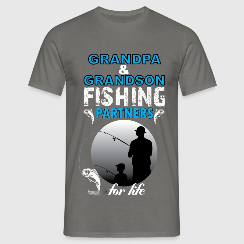 Grandpa And Grandson Fishing Partners For Life - Men's T-Shirt