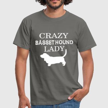 Basset hound - Crazy Basset hound lady - Men's T-Shirt