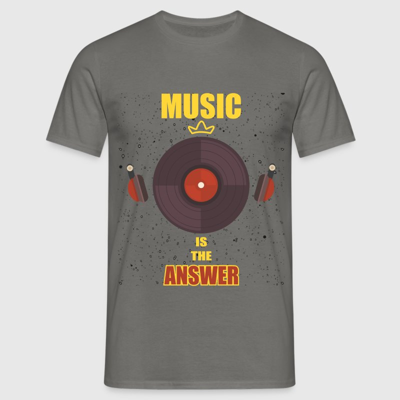 DJ - Music is the answer - Men's T-Shirt