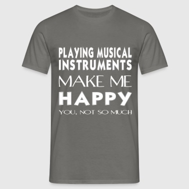 Playing musical instruments - Playing musical  - Men's T-Shirt