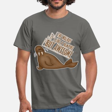 Walrus Walrus - The walrus it's like a vampire but - Men's T-Shirt