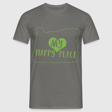 Oregon - My happy place - Men's T-Shirt
