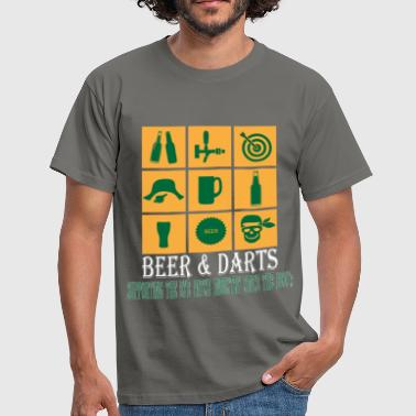 Dart Darts - Beer and Darts supporting the eye patch in - Men's T-Shirt