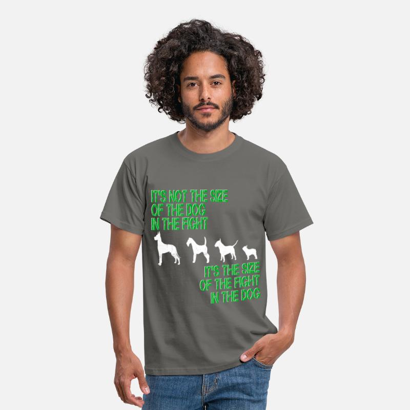 Dog T-Shirts - Dog - It's not the size of the dog in the fight it - Men's T-Shirt graphite grey
