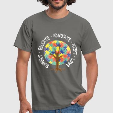 Autism - Support. Educate. Advocate. Accept. Love - Men's T-Shirt