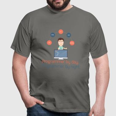 Programmer - Programmer by day, Programmer by nigh - Men's T-Shirt
