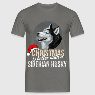 Siberian Husky - Christmas is better with a - Men's T-Shirt