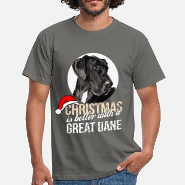 Great Great dane - Christmas is better with a Great Dane - Men's T-Shirt