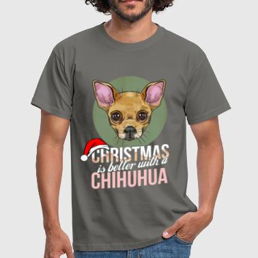 Chihuahua - Christmas is better with a Chihuahua - Men's T-Shirt