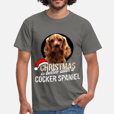 English Cocker Spaniel Cocker spaniel - Christmas is better with a Cocker - Men's T-Shirt