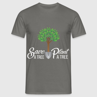 Trees - Save a tree, plant a tree - Men's T-Shirt