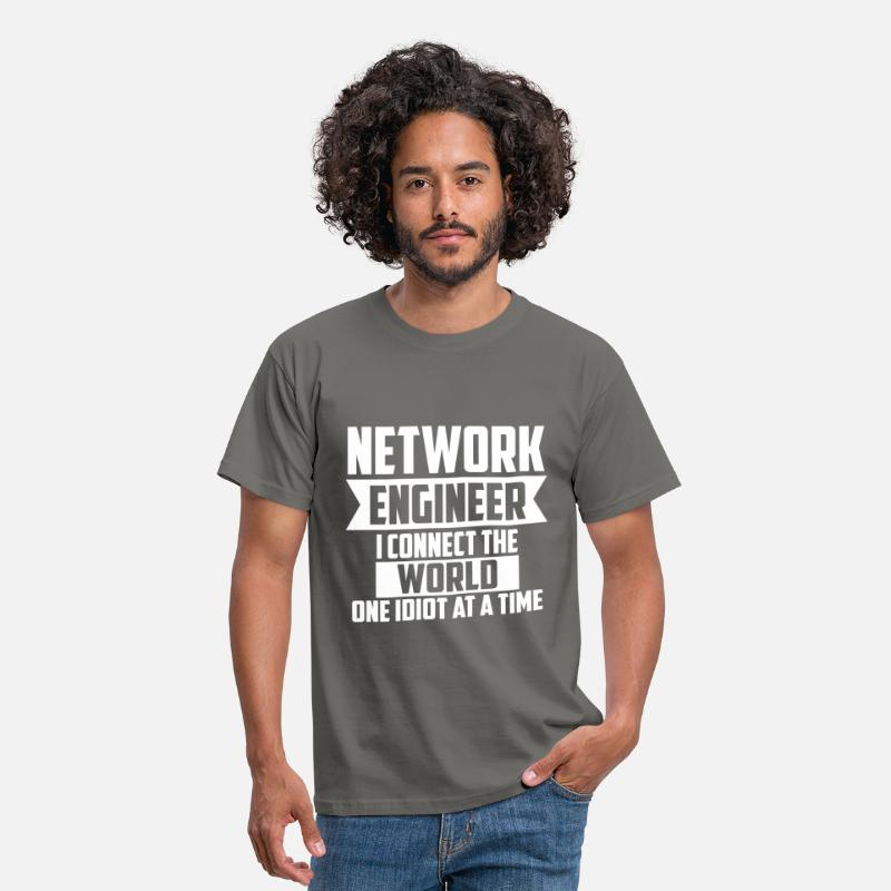 Network Engineer T-shirt T-Shirts - Network Engineer - Network Engineer I connect the  - Men's T-Shirt graphite grey