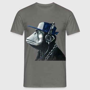Monkey graffiti by CustomStyle - Men's T-Shirt