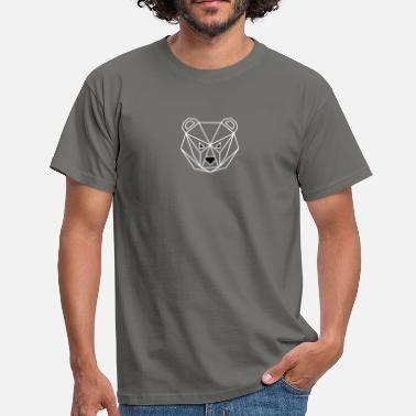 Outline Vector Bear outline - Men's T-Shirt