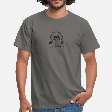 Piss Animal Annoyed unhappy unhappy pissed sour tired painted  - Men's T-Shirt