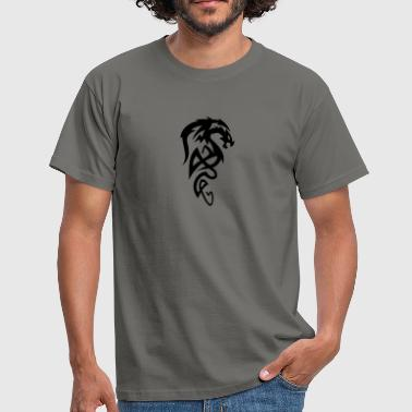 Tribal Tattoo Drache Drache Tribal - Männer T-Shirt